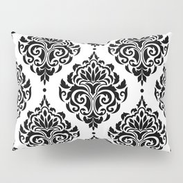 Black and White Damask Pillow Sham