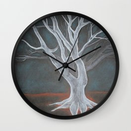 White Tree Wall Clock