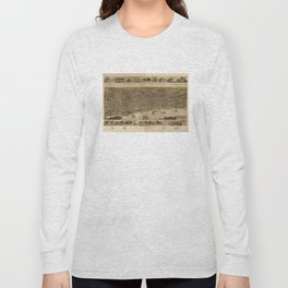 Vintage Pictorial Map of Memphis TN (1887) Long Sleeve T-shirt