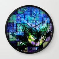 gengar Wall Clocks featuring Gengar Blix by Angela Chevelle