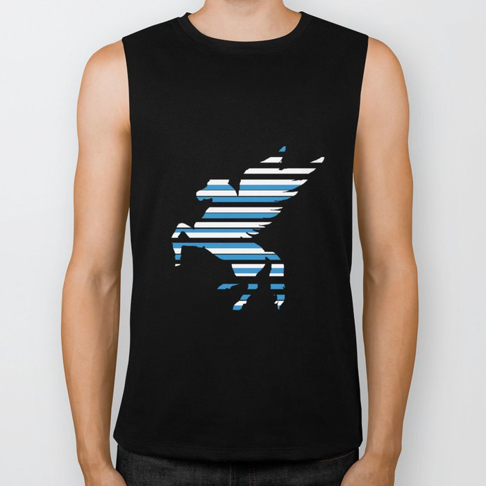 Pegasus Stripes 2 Biker Tank