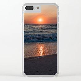Canaveral Seashore Sunrise Clear iPhone Case