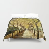 vancouver Duvet Covers featuring Vancouver autumn by amberino