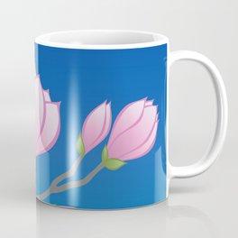 Purple Magnolia Flowers Coffee Mug