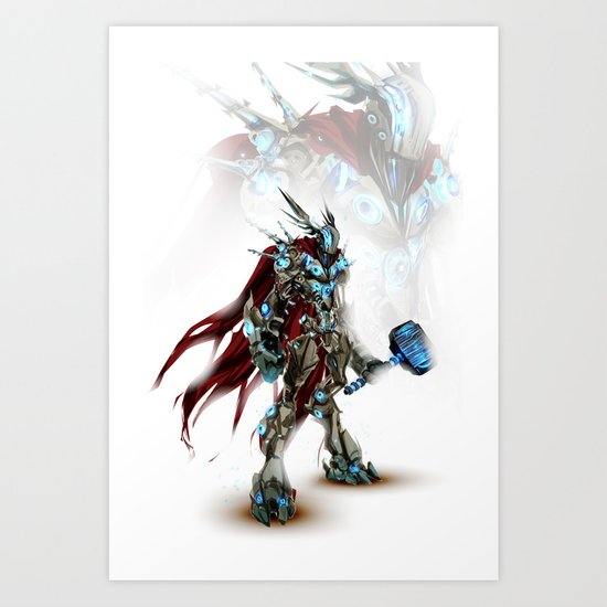 Auto-Avenger Thor Art Print