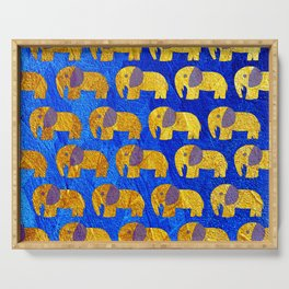 Golden elephant ecopop Serving Tray