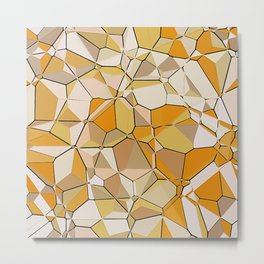 Jumbled Geo Fun 03 Metal Print