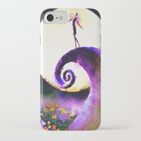 nightmare before christmas iPhone & iPod Cases featuring Nightmare Before Christmas by Melanie Tassone Art