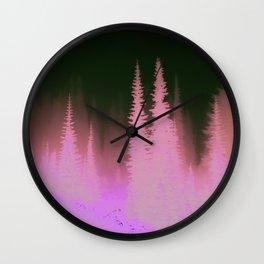 Woodland Fog Wall Clock