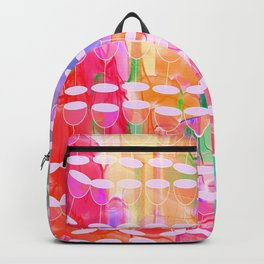champagne glass red wine paint Backpack