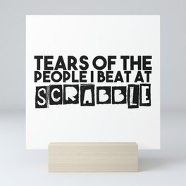 Scrabble player gifts Mini Art Print