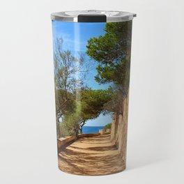 Mediterranean walkway Travel Mug