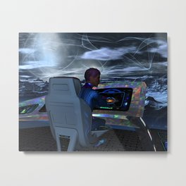 Planetary Exploration Metal Print