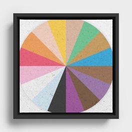 Rainbow Wheel of Inclusivity Framed Canvas