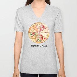 Feast of St. Pizza: Lebanon Edition Unisex V-Neck