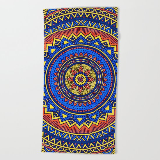 Hippie mandala 57 Beach Towel