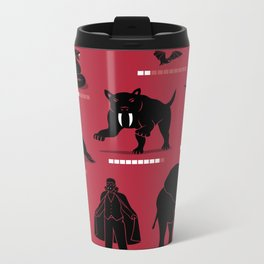 Vampire Threat Levels Metal Travel Mug