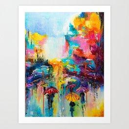 RAIN FALL DOWN Art Print