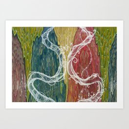 The Mutual Appreciation Paradox (Resistance of Magnetic Entanglement) Art Print