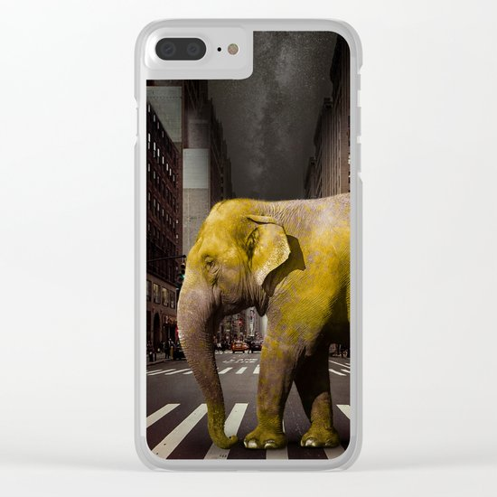 Elephant in New York Clear iPhone Case