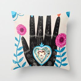 Heart in your hand Throw Pillow