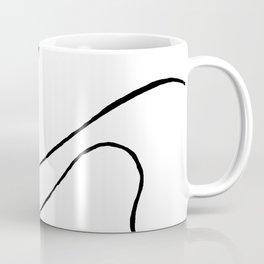 Ebb and Flow 3 - Black and White Coffee Mug