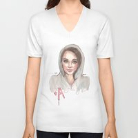 pretty little liars V-neck T-shirts featuring Pretty Little Liars by deepfriedfreckles