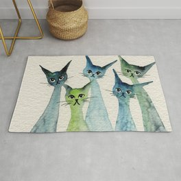 Lakeland Whimsical Cats Rug