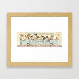 Pups in the Park Framed Art Print