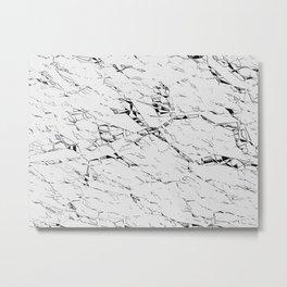 Cracks on white, gray pattern, black asymetric lines, geometric figures Metal Print