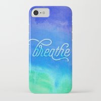 breathe iPhone & iPod Cases featuring Breathe by Noonday Design
