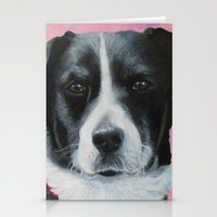border collie Stationery Cards featuring Border Collie by paintintheneck