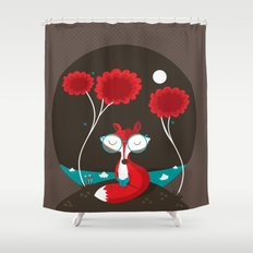 About a red fox Shower Curtain