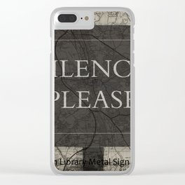 Silence Please Sign, Oxford, England, Uk Clear iPhone Case