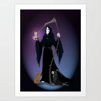 discworld Art Prints featuring A PTribute by wolfanita