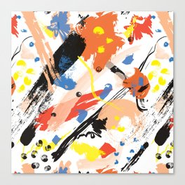 Abstract Floral Splash Canvas Print