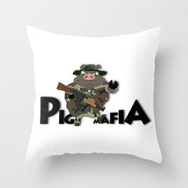Pig Mafia Throw Pillow