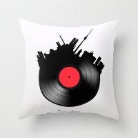 berlin Throw Pillows featuring Berlin  by mark ashkenazi
