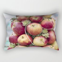 Christmas decorative composition with apples Rectangular Pillow
