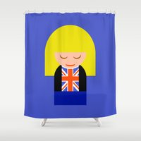 tyler spangler Shower Curtains featuring Rose Tyler by Kellyanne