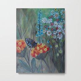 Posies Friend-Butterfly Love Metal Print