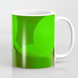 Abstract soap  of green molecules and bubbles on a light background. Coffee Mug