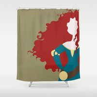 merida Shower Curtains featuring Merida by Dewdroplet