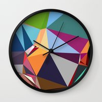 forever young Wall Clocks featuring Forever Young by contemporary