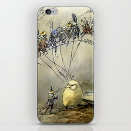 """""""Bother the Gnat"""" by Duncan Carse iPhone Skin"""