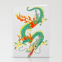 chinese Stationery Cards featuring Chinese Dragon by J&C Creations