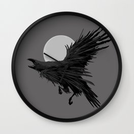 Crow & Moon Wall Clock