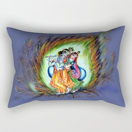 Radha Krishna  Rectangular Pillow