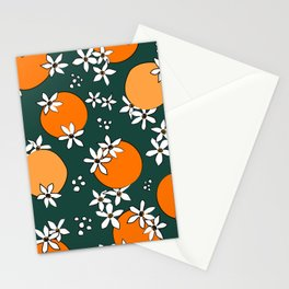 Midnight Citrus Pattern No 06 Stationery Cards