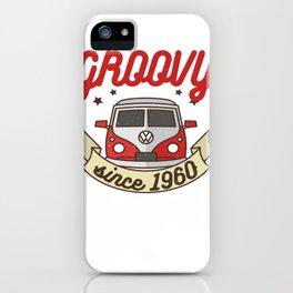 Groovy Since 1960 Hippie Birtthday Bus Groovy iPhone Case